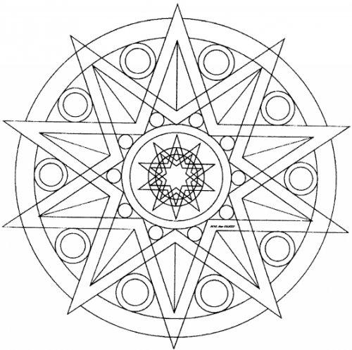 Coloriage Mandala Cp Imprimer.Mandala N 2 A Colorier Pour Les Plus Jeunes Ecole