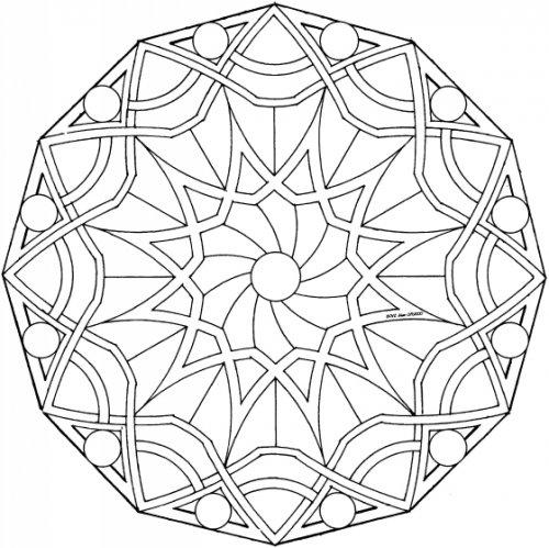 Coloriage Mandala Cp Imprimer.Mandala N 9 A Colorier Pour Les Plus Jeunes Ecole